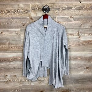 All Saints Vasu Cardigan Asymmetrical Gray Sweater